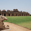 Stock Photo: Ancient ruins of Elephant Stables, Royal Centre. Hampi, Karnataka, India.