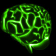 Glowing brain — Stock Photo