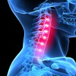 Painful neck — Stock Photo #2628152