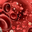 Streaming blood — Stock Photo