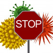 Virus stop - Stock Photo