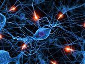 Aktiva nervceller — Stockfoto