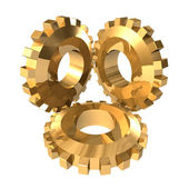 Gold gears — Stock Photo