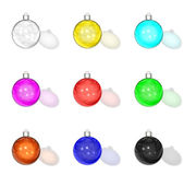 Motley christmas glass balls — Stock Photo