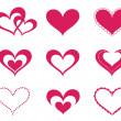 Royalty-Free Stock Vector Image: Hearts set