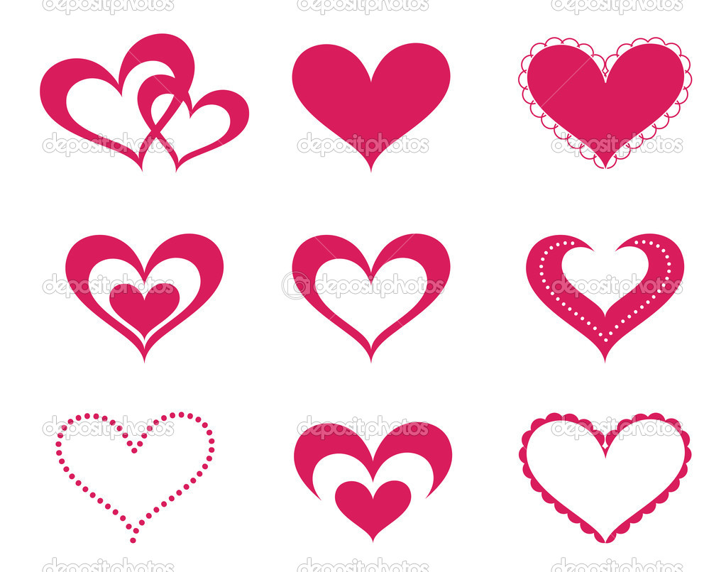 A collection of love hearts — Stock Vector #2565825