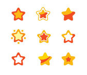 Stars set — Stock Vector