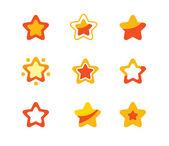 Stjärnor i set — Stockvektor