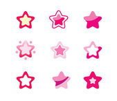 Conjunto de estrelas — Vetorial Stock