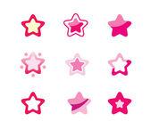 Zestaw gwiazd — Wektor stockowy