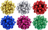 Metallic gift bows x 6 — Stock Photo