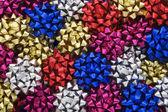 Multi-coloured Metallic Gift Bows — Stock Photo