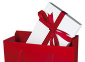 Red gift bag [Close-Up] — Stock Photo
