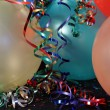 Multi Colored Party balloons with Ribons — Stock Photo #2581226