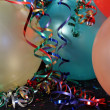 Multi Colored Party balloons with Ribons - Stock Photo