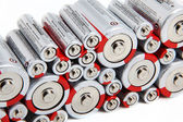 Stacked Batteries — Stock Photo