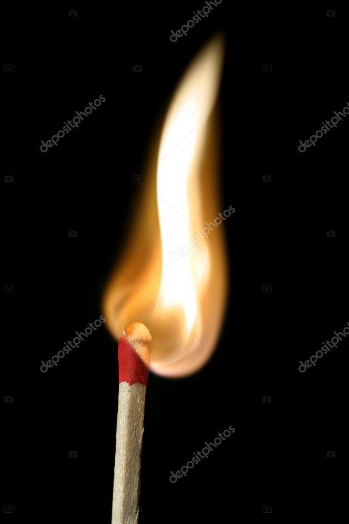 A match in the process of igniting  Stock Photo #2581188