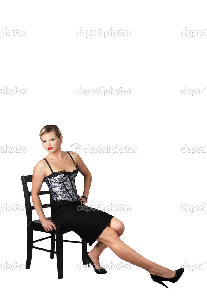 A pretty girl posing on white — Stock Photo #2581263