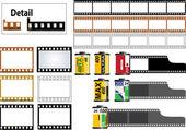 Marco de película de 35mm de la diapositiva — Vector de stock