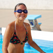 Stock Photo: Girl swimmer smiling