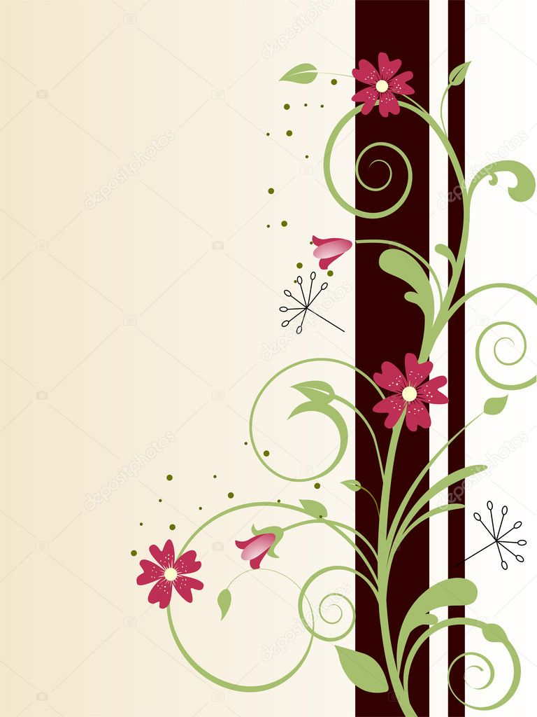 Vector illustration of a floral background  Stock Vector #2501984