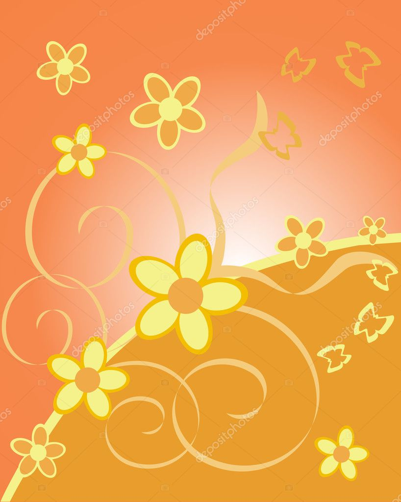 Vector illustration of a floral background — Stock Vector #2559695