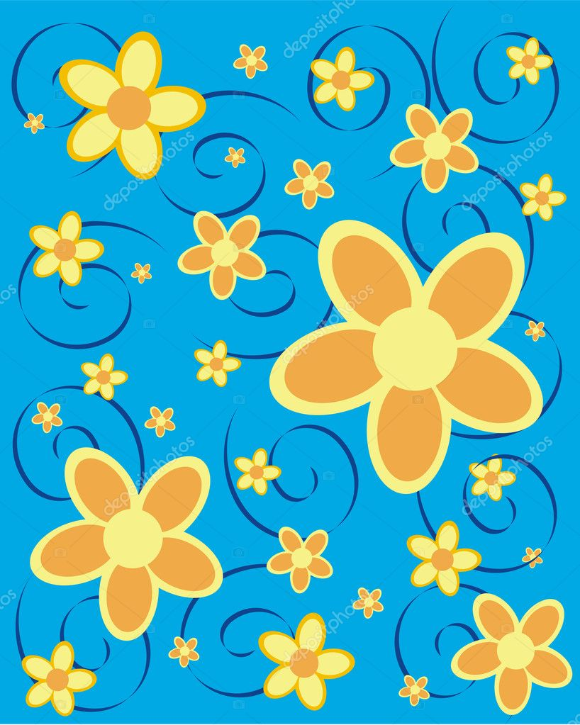 Vector illustration of a floral background  Stock Vector #2559883