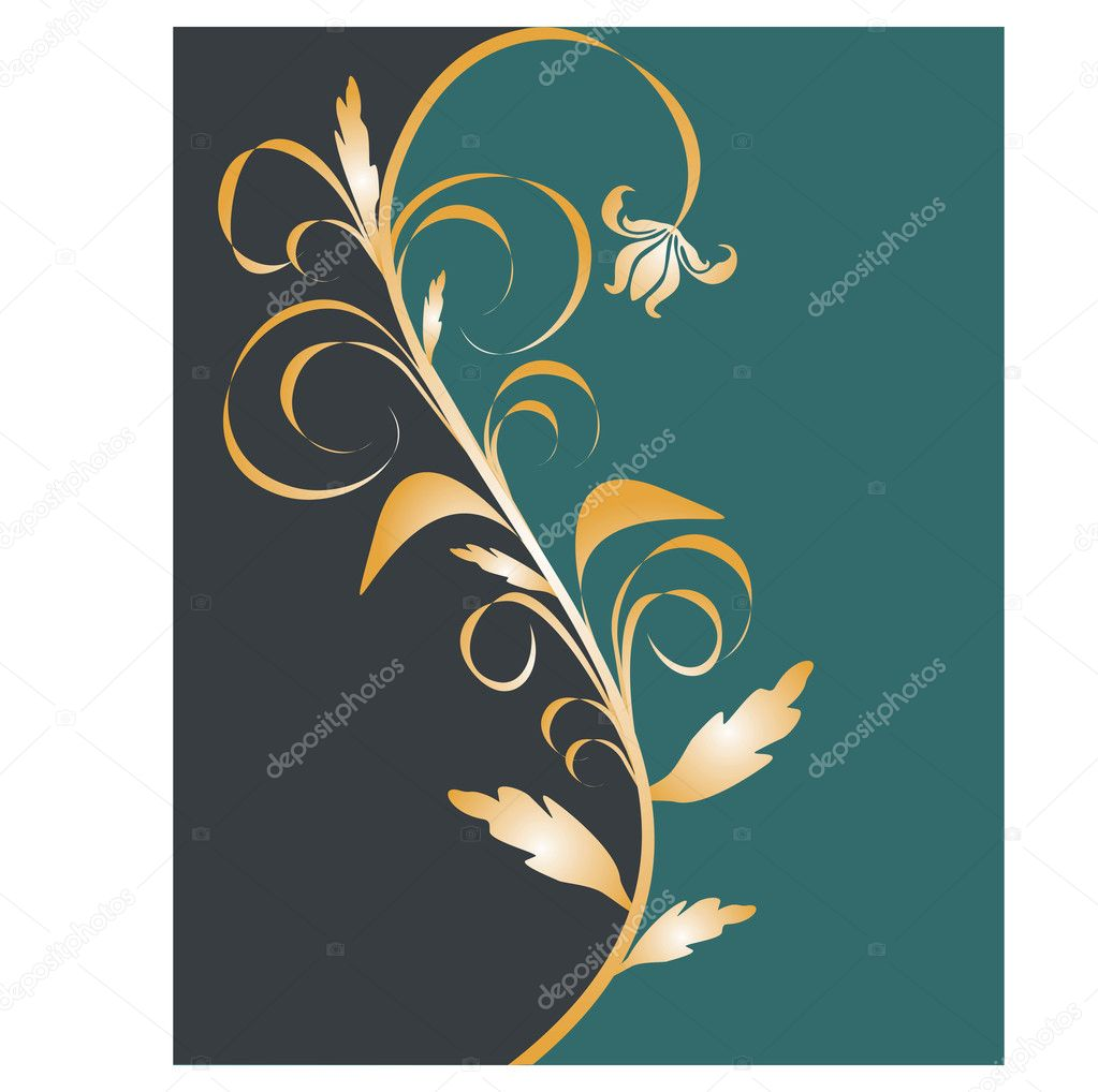 Vector illustration of an abstract floral background — Stock Vector #2559980