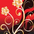 Royalty-Free Stock Imagen vectorial: Golden floral