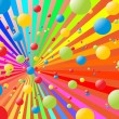 Royalty-Free Stock Vector Image: Rainbow balls