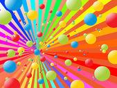 Bolas de arco-íris — Vetor de Stock