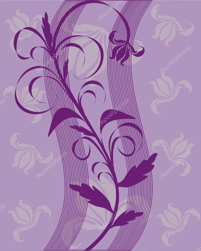 Vector illustration of an abstract floral background — Vektorgrafik #2560397