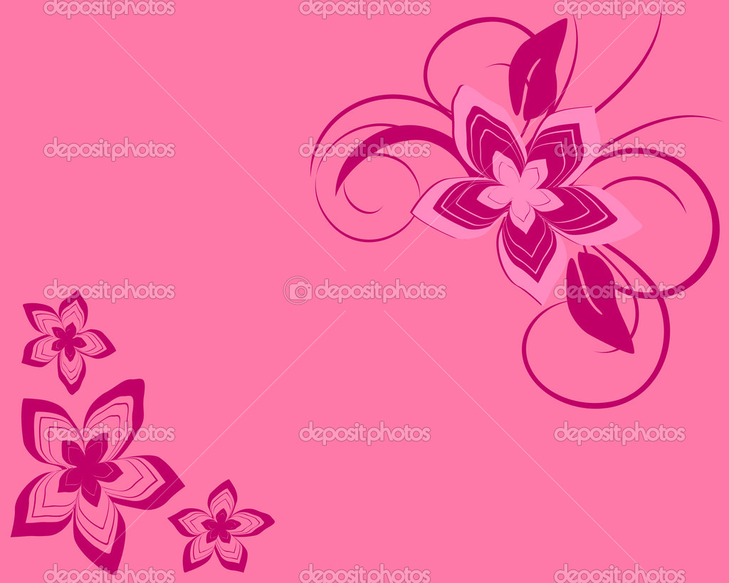 Vector illustration of a pink floral background — Stock Vector #2567609