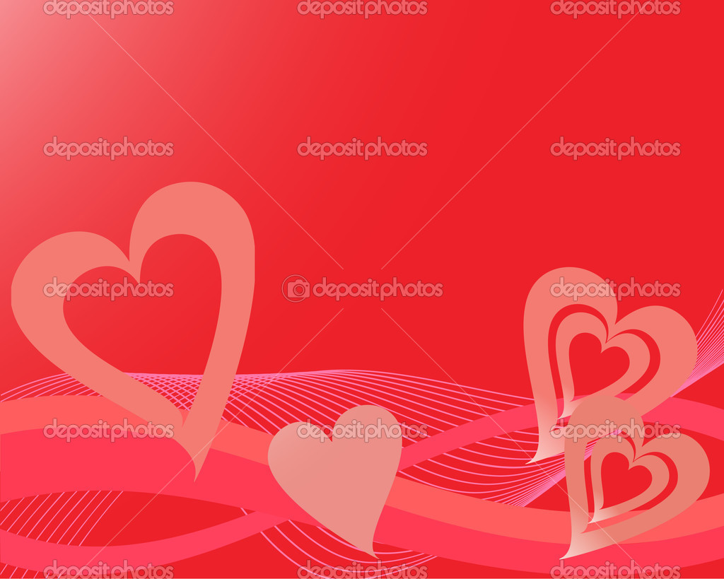 Vector illustration of a hearts and waves — Stock Vector #2567771