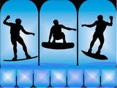 Wakeboarder w akcji — Wektor stockowy