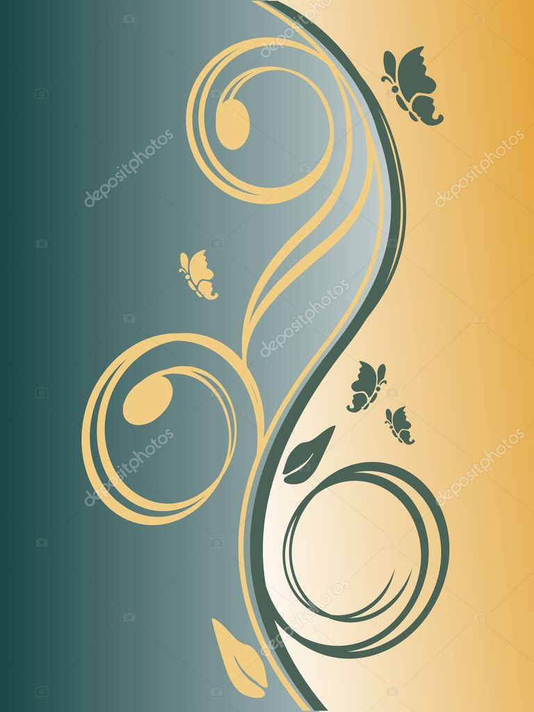 Vector illustration of an elegant floral background — Stock Vector #2606384