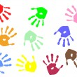 Hand prints - Grafika wektorowa