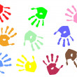 Stock Vector: Hand prints