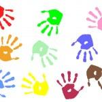 Hand prints — Stock Vector