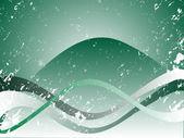 абстрактный зеленый волны — Cтоковый вектор