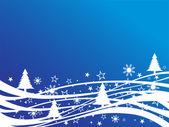 Christmas - winter scene — Stock Vector