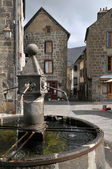 Fountain of Besse en Chandesse in France — Stock Photo