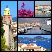Mosaic photos of Saint Tropez in France — Stock Photo