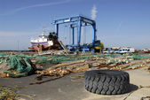 Port of La Cotiniere in France — Stock Photo
