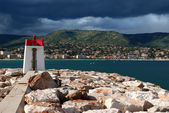 Lighthouse of Bormes les Mimosas in Fran — Stock Photo