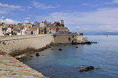 Sea and town of Antibes in France — Stock Photo