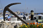 Anchor the port of Antibes in France — Stock Photo