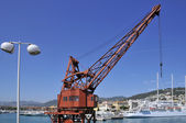 Crane the port of Nice in France — 图库照片