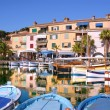 Port of Sanary in France - Stock Photo
