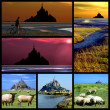 Abbey Mont-Saint-Michel mosaic - Stock Photo